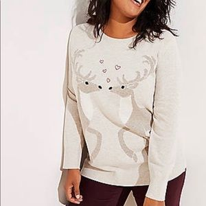 Loft Reindeer and Hearts sweater